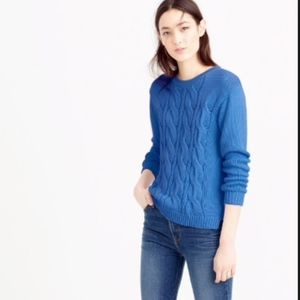 NWT-J. Crew Cotton Cable Sweater